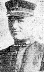 John B Ahern, missing in action following the destruction of the USS Ticonderoga in 1918. From the Boston Post newspaper.