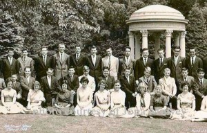 Photograph of some members of the 1960 graduating class from Ash Street Grammar School. Courtsey of Jona Mulvey and used here with her permission. [Note this is smaller segment of the original larger photo].