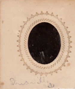 The back of Mrs. Frost's photograph