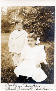 Photograph postcard from 1910, Oliver Prescott Baker and Evelyn Baker, 202, North Weare New Hampshire.