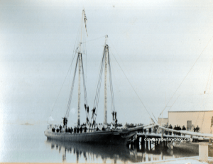 Photograph of the schooner, Concord, that left for the Klondike in 1897.