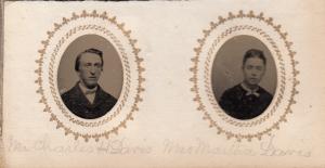 Charles H Davis and wife Martha Davis