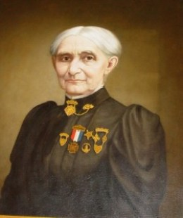 Harriet Patience Dame, painting hanging in the NH State House. Photograph taken in 2004 by Janice W. Brown.