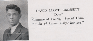 From Manchester NH Central High School, Class of 1936.  David L. Crossett pictured.