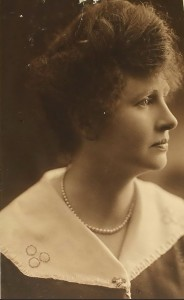 Elena M. Crough, photograph taken in 1917 for her Red Cross nursing application.