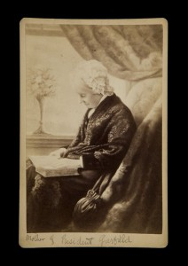 Cabinet Photograph: Eliza Ballou Garfield, from a reproduction, c1876; Special Collections, Fine Art Library, Harvard College Library