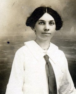 Emma Fish, nee Ryan, maid in 1910 to Maud Briggs Knowlton. Great-aunt of the author.