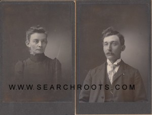 Frank Orrin Foster with his first wife, Alice (Fern) Foster.