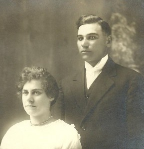 Fred & Rose Anna (?) Clement. Photograph courtesy of Gail Wiley, used here with her permission