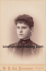 Annie Belle Goodwin, graduate of 1888 Class of Manchester (NH) High School. Collection of J.W. Brown
