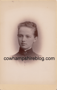 Mary A. Hawley, Class of 1888, Manchester (NH) High School. Collection of J.W. Brown