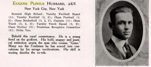 1917 Middlebury College Yearbook (VT) biography page.
