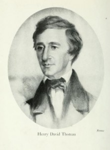 "Henry David Thoreau, an engraving from ""Henry David Thoreau,"" by Joseph Wood Krutch, 1900"