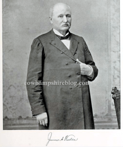 Photograph of James A. Weston from Willey's Semi-Centennial Book of Manchester, 1846-1896, by George Franklin Willey, 1896, Manchester NH, page 128