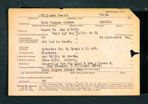 Jewett Jewett officer card