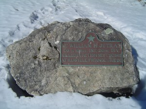 Photograph of Herman F. Little recognition plaque, located in Manchester NH at the corners of South Main and Granite Streets. Copyright of Martin Miccio for the City of Manchester, and used here with permission