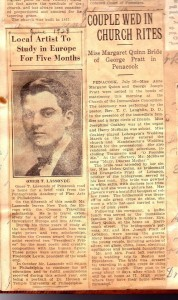 June 1928 NH newspaper notice with article on Omer Lassonde. Courtsey of Debra LaValley. Used here with her permission.