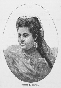 Print of Nellie E. Brown, circa 1878, James > Trotter, Schomburg Center for Research in Black Culture, Manuscripts, Archives and Rare Books, NYPL Digital Library