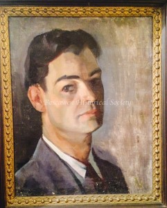 Self portrait of Omer Lassonde. Photograph copyright Boscawen Historical Society. Used here with their permission.