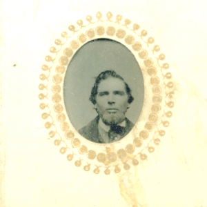 Leonard Colby of Northfield NH from a gem sized tintype (also see photograph at top of page).