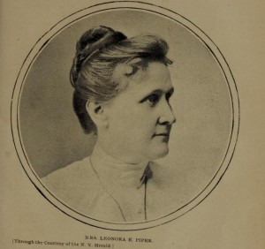 "Leonora Piper from Cover of: ""Spiritism, hypnotism and telepathy as involved in the case of Mrs. Leonora E. Piper and the Society of psychical research,"" by Clark Bell"