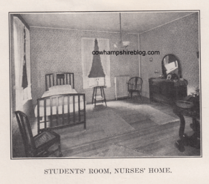 Nursing students room at the Lucy Hastings Hospital, from an undated prospectus