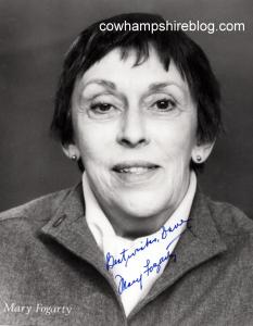 Actress Mary Fogarty.