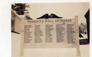 World War I Honor Roll, Meredith, NH