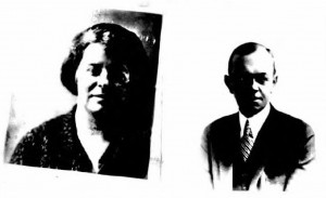 Mr. and Mrs. Harry H. Blunt, from their passport in 1923.