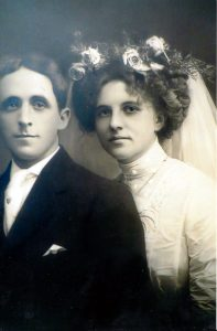 Dennis Nash and wife Bertha (Chase) Nash on their wedding day.