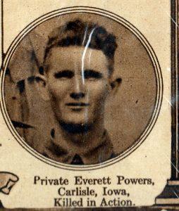 POWERS Everett Carlisle Iowa