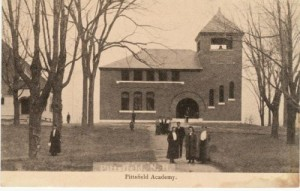 Old postcard of Pittsfield Academy.