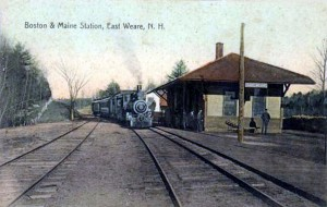 East Weare NH B&M Railroad Station