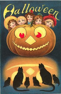 Antique Halloween card
