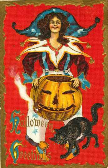 Victorian pumpkin card