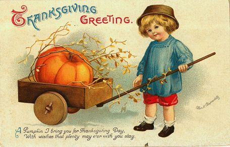 Victorian postcard pumpkin