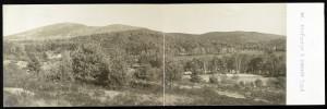 View of Mount Kearsarge and Keyser/Kezar Lake from North Sutton NH; panoramic postcard, J.H. Johnson, Bradford NH c 1906; Library of Congress Prints and Photographs Division, Washington DC.