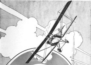 """Aeroplane graphic, part of an advertisement for Cellon Non-Poisonour Dope; from """"The Aeroplane"""" magazine, Supplement v, Jul;y 25, 1917; page 235"""