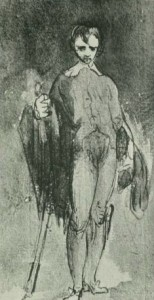 Etching, Sketch for the Blue Boy by Gainsborough, from Drawings of Gainsborough, 1906, page 87 http://archive.org/stream/drawingsofgainsb00gowe#page/n87/mode/2up