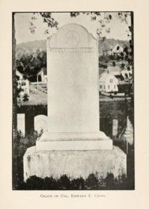 "Grave of E.E. Cross in Lancaster NH, from ""History of Lancaster NH"""