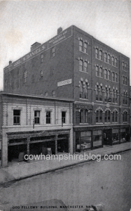 The Oddfellows Building at 83 Hanover Street, Manchester NH. Hesser College was located here from 1905-1910.