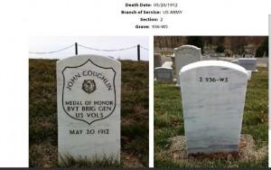 Arlington National Cemetery: grave of John Coughlin
