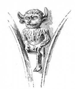 Lincoln Devil, from Devils, by J. Charles Wall, Methuen & Co., 1904, internet archive