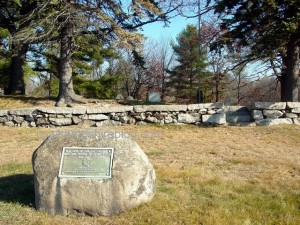 Site of Manchester NH's first meetinghouse. Photograph copyright Janice W. Brown