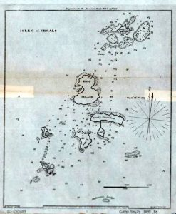 Map, Isles of Shoals, by Edmund M. Blunt, 1837; Library of Congress