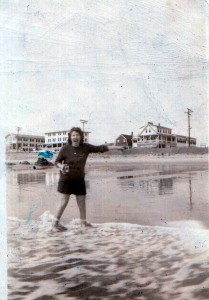 mary manning at the beach w camera 2