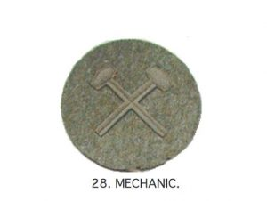 This style of chevron would have been worn on the uniform of a mechanic in WWI.
