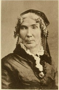 Mrs. Hannah Eayrs Barron, poet and writer, born Merrimack, Hillsborough Co. New Hampshire on 24 November 1809. Photograph from her book of poetry.