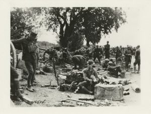 Position of 7th Field Artillery, 1st Div. in the Franco-American advance. Missy-aux-Bois, France. July 15, 1918.The Miriam and Ira D. Wallach Division of Art; The New York Public Library Digital Collections.