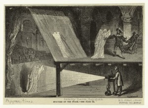 "Art and Picture Collection, The New York Public Library. ""Spectres on the stage."" The New York Public Library Digital Collections. 1871. http://digitalcollections.nypl.org/items/510d47e2-c54a-a3d9-e040-e00a18064a99"